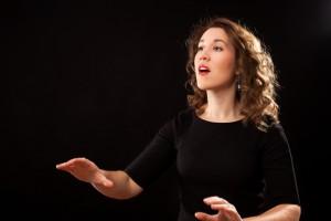 Female choir conductor